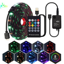 USB LED Light Strip 20Key RF Remote Led Music Controller 5050 RGB Set For TV Background Lamp Ribbon Tape