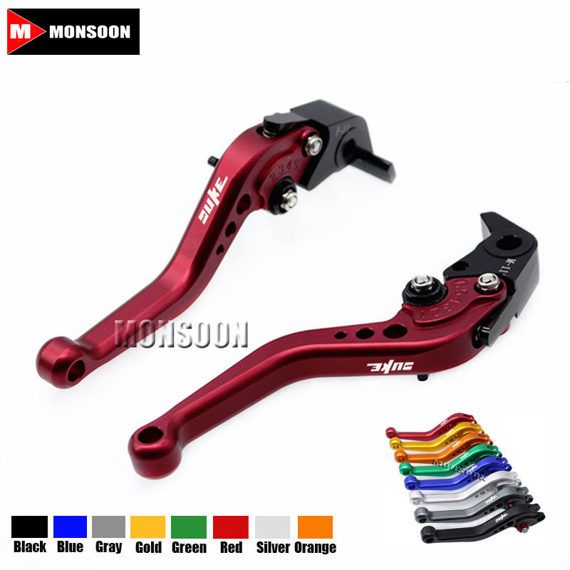 For KTM 390 Duke/RC390 2013-2017 200 Duke/RC200 14-16 RC125/125 Duke 14-17 Motorcycle Accessories Short Brake Clutch Levers Red for ktm logo 125 200 390 690 duke rc 200 390 motorcycle accessories cnc engine oil filter cover cap