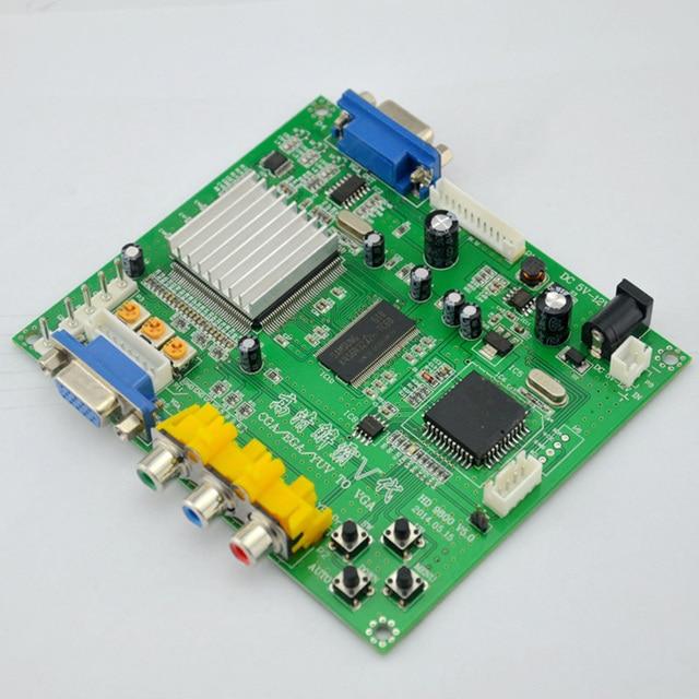O Envio gratuito de 1 Conjunto Novo RGB CGA EGA YUV para VGA HD Video Converter board Game módulo HD9800 GBS8200