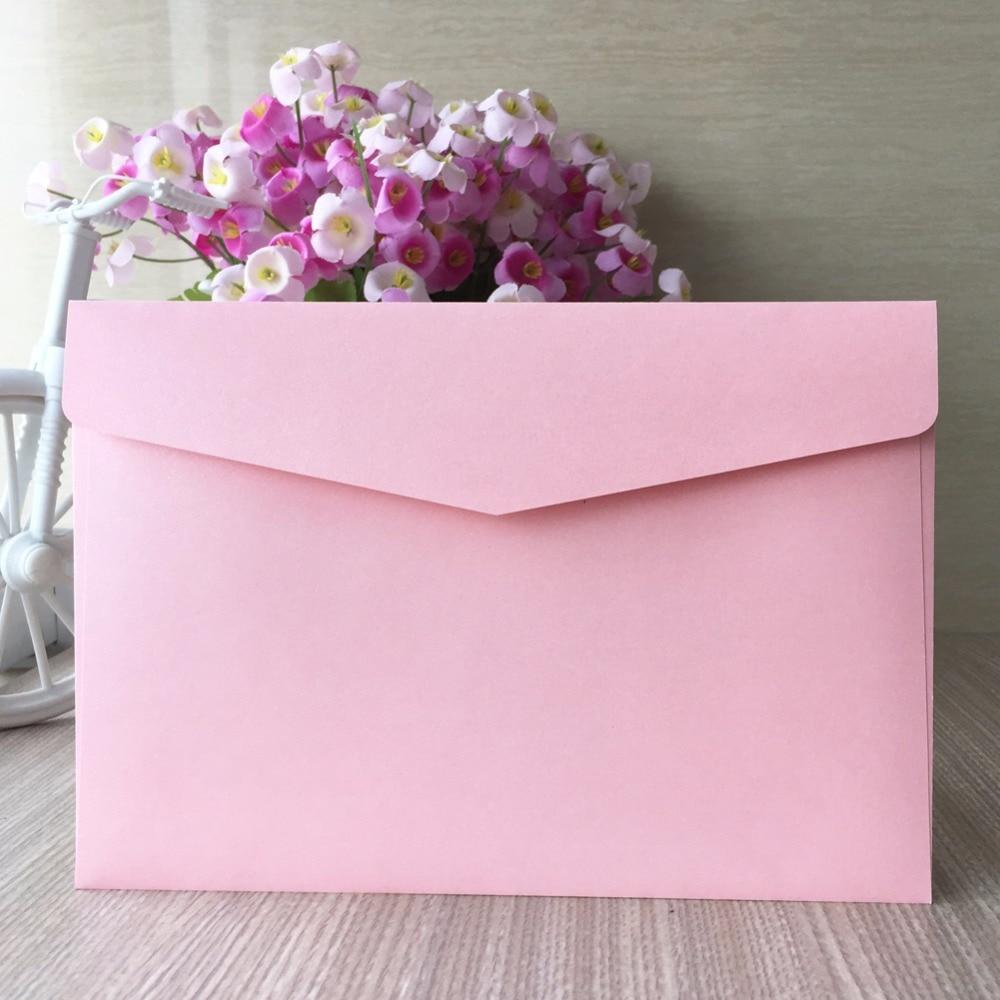 Wedding Invitation Envelope Sizes: 5pcs/lot High Quality Colorful Envelopes Wedding RSVPcard