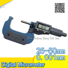 Big discount Electronic Digital Outside Micrometer Gauge Caliper gauge 0.001 mm SHAHE digital 25-50 micrometer vernier caliper micrometer