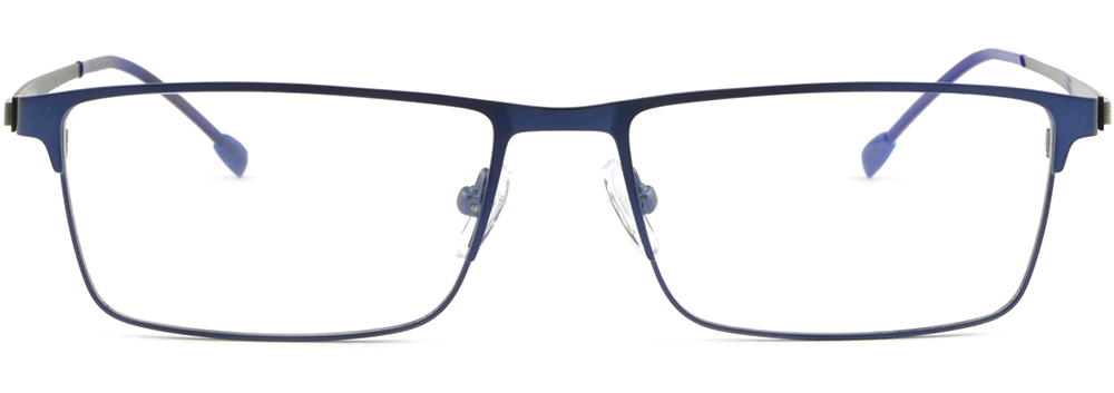 a7139e542ab Blue Full Rim Thin Light Mens Women Titanium Frame Rectangular ...