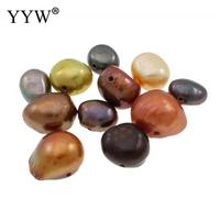 Cultured Baroque Freshwater Pearl Beads Nuggets mixed colors 4 8mm Approx 0.8mm Sold By KG