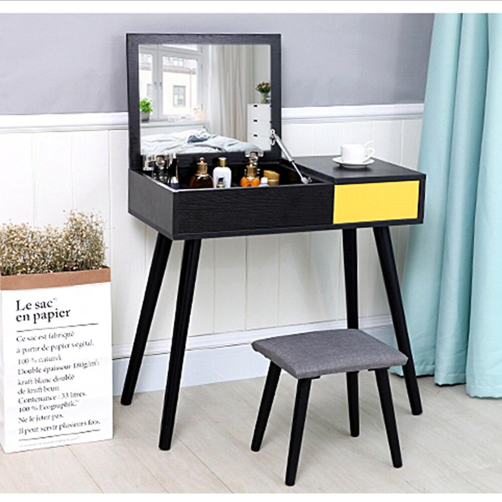 туалетный столик с зеркалом мебель для дома комод дерево комод для косметики столик для макияжа туалетный стол мебель для дома комоды табур... ...