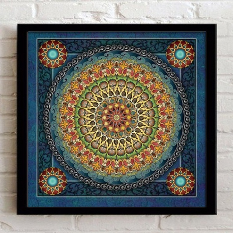 Home Decoration Framed wall art canvas painting Ethnic Picture for ...