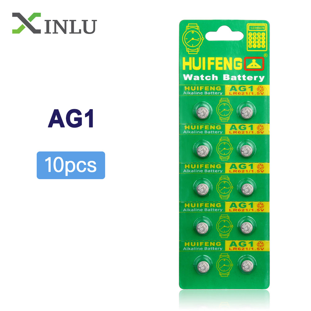 10pcs AG1 364 SR621SW TR621SW CX60 621 SR60 LR60 Button Cell Coin Battery For Watch,10PCS AG1 Battery