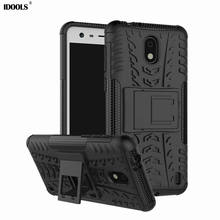 hot deal buy idools cover case for nokia 2 hybrid armor 2 in 1 stand cases for nokia 2 dual layer kickstand phone bag for nokia 2 nokia2 capa
