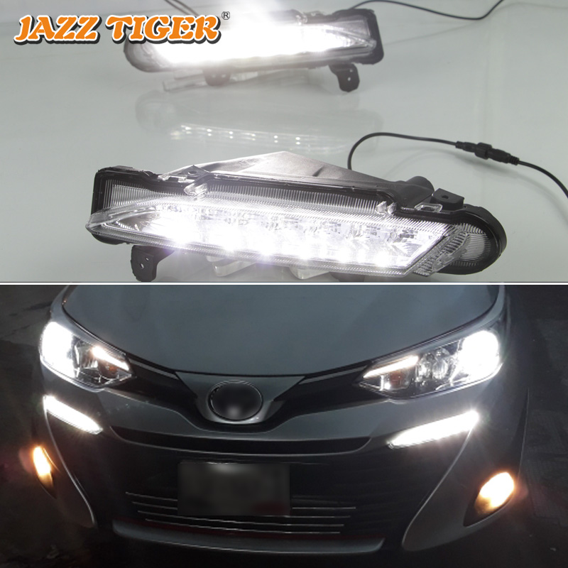 Car Lights Jazz Tiger 2pcs Yellow Turn Signal Function 12v Car Drl Lamp Led Daytime Running Light Daylight For Kia Rio K2 2011 2012-2014 Easy To Repair Automobiles & Motorcycles