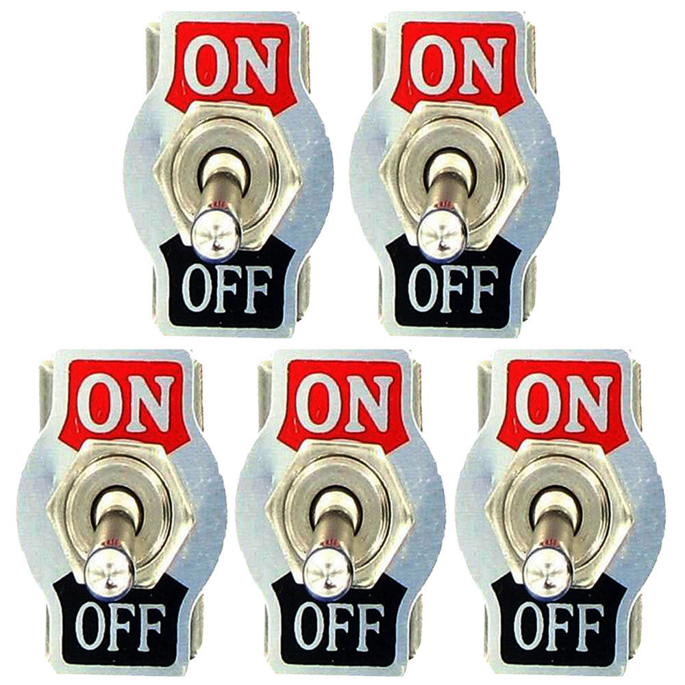 Hot Sale Ee Support 5pcs Heavy Duty 20a 125v 15a 250v Spst 2 Of Momentary Switches Should Only Require Two Terminals Terminal Pin On Off Rocker Toggle Switch Plate Universal Car Accessories