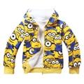 2016 winter Thicken minions boys Hoodies Sweatshirts Kids Children's Clothing Baby boys Girls Hoodies & Sweatshirts Jacket