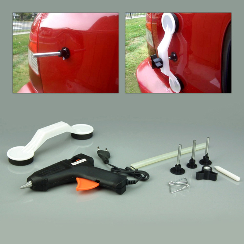 220V Paintless Car Dent Repair Tool Dent Removal Dent Puller Tabs Dent Lifter Hand Tool Set Tool Kit