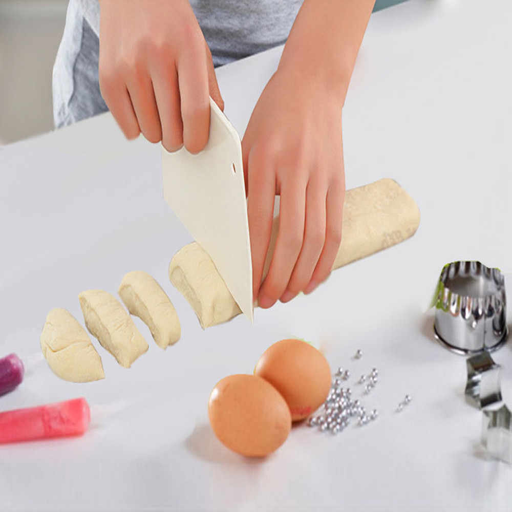 Pastry Dough Cutter Cake Bread Slicer Baking Pasty Tools Scraper Cake Blade Spatula For Cake Patisserie Kitchen Tool