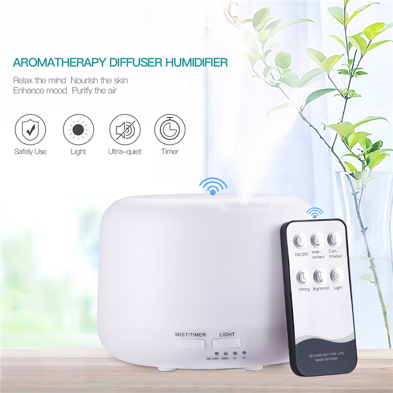 Remote Control Ultrasonic Air Humidifier for Home Room Quiet Air Diffuser Aroma Timer Mist Maker 7 Color LED Night Light 320ml33 keyshare dual bulb night vision led light kit for remote control drones