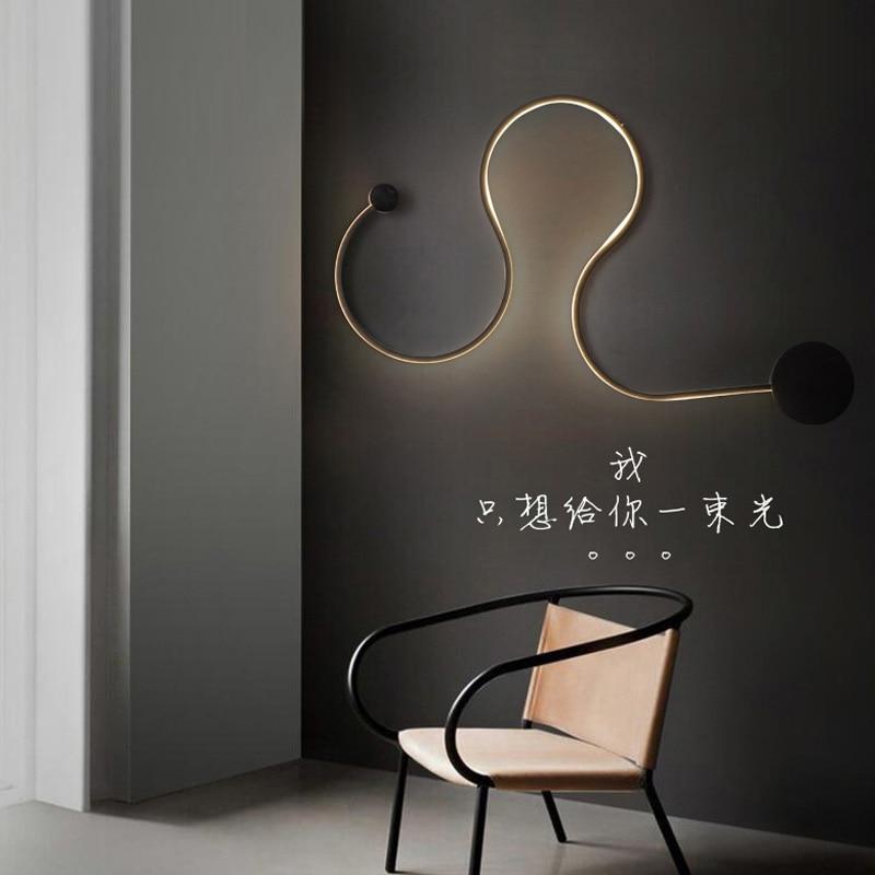post modern scandinavian modern minimalist creative wall lamp led bedside lamp bedroom lamp. Black Bedroom Furniture Sets. Home Design Ideas