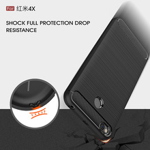 For Xiaomi Redmi 4X Case Silicone Brushed Carbon Fiber Texture Phone Case Fundas Redmi4X Cover Soft TPU Shockproof Protect Shell brushed texture carbon fiber shockproof tpu case for xiaomi mi 8 se black