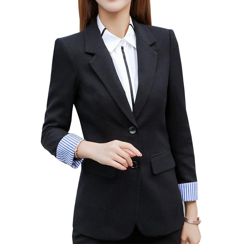 Женские офисные пиджаки 2019 Новый одной кнопки блейзер Для женщин пиджак цвет: черный, синий Blaser женский пиджак Femme плюс Размеры 4XL