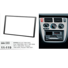 11-119 coche 2 DIN Fascia Marco de panel de placa para HONDA Accord cívica CR-V HR-V estéreo Fascia Dash CD Trim Marco de instalación Kit(China)