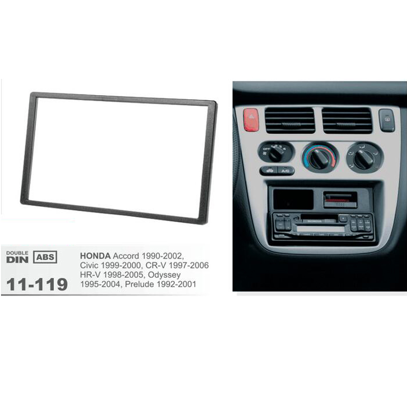 Car Stereo Radio Fascia Panel 2Din Trim Kit Frame for  HONDA Accord 2002-2007
