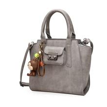 2016 Autumn Winter Fashion Trapeze Shoulder Bag Messenger Bags Hot Sale PU Leathe Women Business Travel Handbags Grey Blue Pink