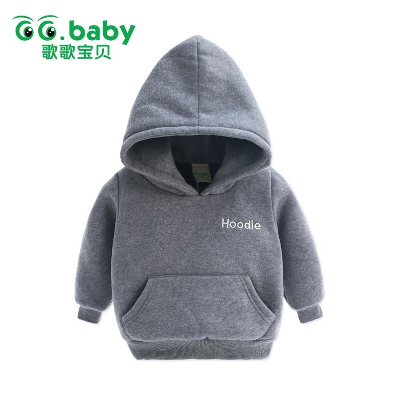 Fashion Winter Warm Fleece Hoodies Baby Boy Hoodie Children Boys Clothing Kids Sweatshirt Cotton Sweat A Capuches Boys Clothes