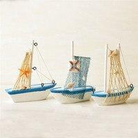Décoration de maison de bateau bleu en bois nautique marine de style méditerranéen vintage 5
