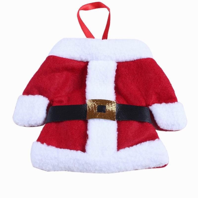 무료 배송 Santa Sliverware Bag 크리스마스 장식 다이닝 테이블 나이프 포크 레스토랑 Enfeites 식기 가방