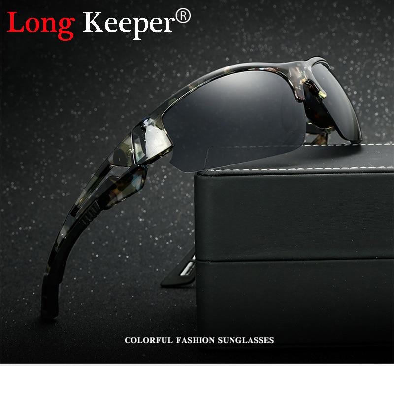 Long Keeper Merk Semi Randloze Zonnebril Heren Vierkante Zonnebril Hoge kwaliteit Eyewears voor Mannelijke Vrouwelijke Eyewears gratis verzending