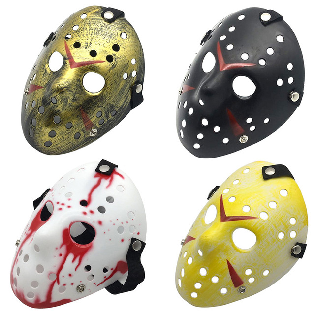 Lovinland Friday the 13th Jason Voorhees Hockey Mask Costume Halloween Mask Horror Scary Adult Halloween Accessory Mask Face