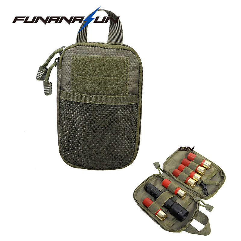 Tactical EDC MOLLE Pouch Ammo Bullet Carrier Pouch Pocket Flashlight Holder BagTactical Backpacks Army Bags Travel Accessory new 30 50 cal metal ammo can military and army m19a1 all metal box for long term storage by solid tactical bullet box ammo case