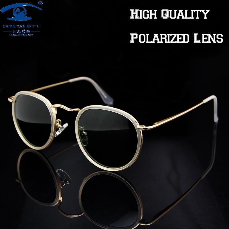 6304ba527 Top Quality Vintage Sunglasses Women transparente Polarized Sun Glasses  Retro Round Sunglasses lunette oculos de sol feminino-in Sunglasses from  Women's ...