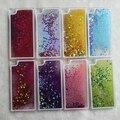 Luxo glitter estrela fluindo água líquido case for huawei p8 plástico transparente claro capa para casos de telefone huawei ascend p8lite