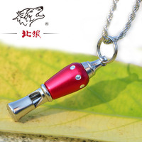 HOT Stainless Steel kid men Survival lifesaving emergency survival whistle with neckchain Camping Sports gift whistle
