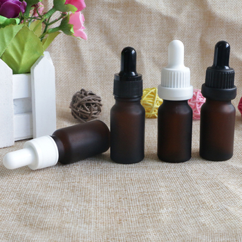 10ML Reagent Eye Dropper Drop Amber Frosted Glass Aromatherapy Liquid Pipette Bottle Refillable Bottles 100pcs/lot