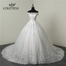 Cheap Lace Appliques Cheap Train Wedding Dress plus size Sweetheart Tulle Tank Summer Princess Bridal Ball Gown Floral Print CC