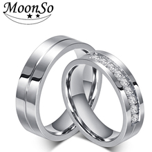 fashion titanium Rings Men And Women Jewelry  Couple Promise wedding finger love Rings jewelry R4624 цена и фото