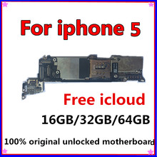цена Tested Good Working Original 16GB 32GB 64GB Motherboard for iPhone 5 5g Factory Unlocked Mainboard Logic Board IOS system