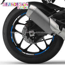 For YZF R1 R6 R3 Motorcycle Wheel Sticker Decal Reflective Rim Bike Suitable цена 2017