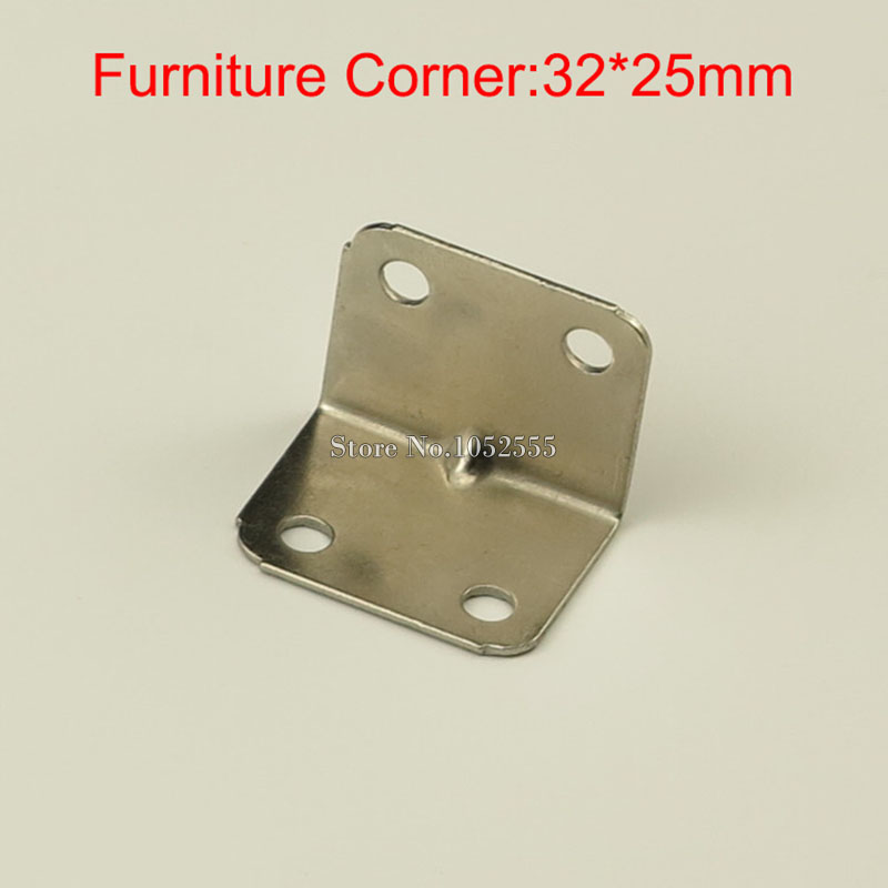 ④10PCS 37*30mm stainless steel furniture corners angle bracket L ...
