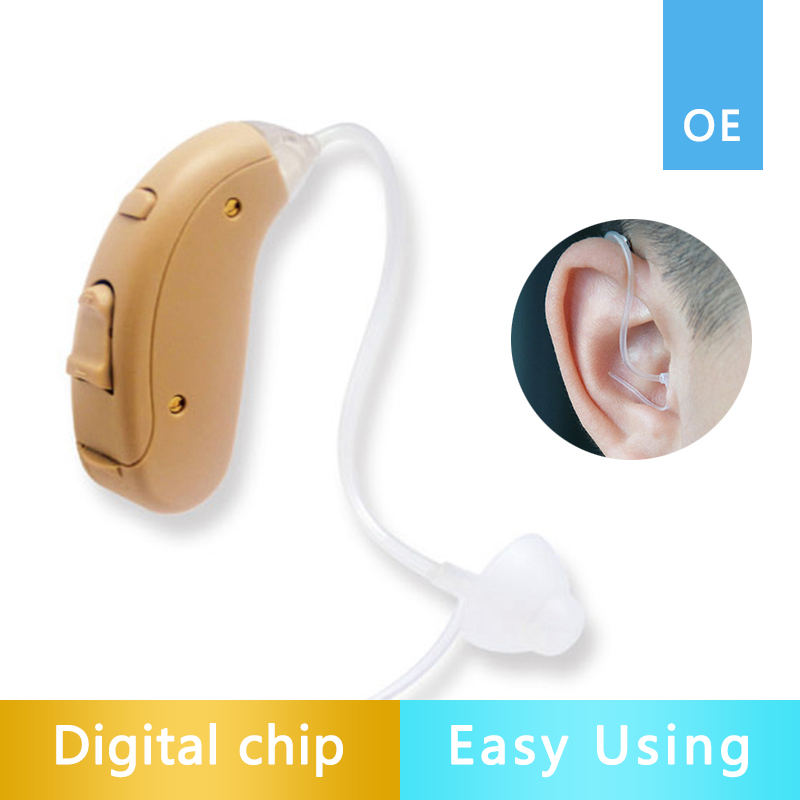 VHP702 Mini digital pocket hearing aid adjustable hearing aids ear sound amplifier use 13A hearing aid