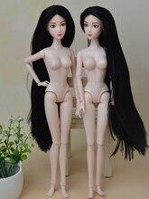 Оригинальный китайский голая кукла / белая кожа 7 цвета волос / 14 суставы подвижный / с головой и тело для куклы барби игрушка в подарок BBI00160