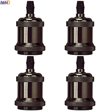IWHD DIY Retro Vintage Lamp Holder Portalamparas E27 Socket Loft Industrial Style Douille Soquete E27 Lamp Base