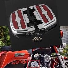 D-shape Электра Аот Красный LED Подсветка Заднего Подножка Пассажирский Паркетной Доски Крышка Комплект Для Harley Softail Dyna Touring Trike пользовательские