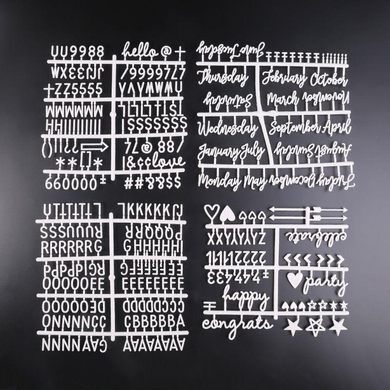 4 pcpçs/set caracteres para números de placa de letra de feltro para placa de letra mutável