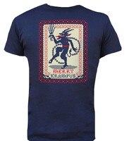 Custom Design Tee Shirts Crew Neck Funny Short Sleeve Merry Krampus Mens T Shirt