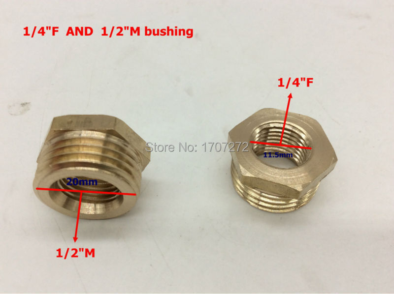 Free shipping female quot male brass pipe reducing