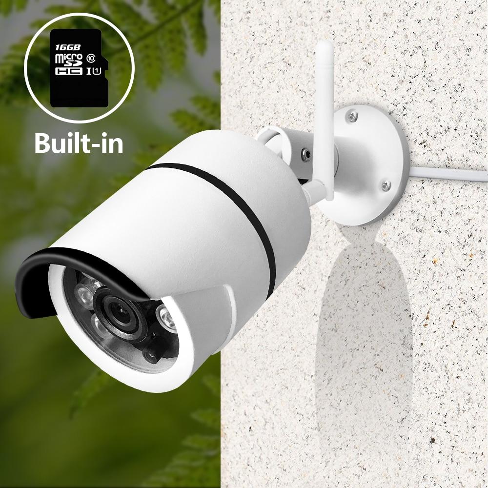 SDETER Wireless IP Camera Wifi 720 P Esterna Impermeabile Security Camera Built-In 16G Scheda di Memoria P2P Macchina Fotografica Della Pallottola Notte visione