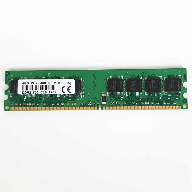 4 GO DDR2 PC-6400 800 mhz 240pin ordinateur de bureau de mémoire DDR2 4 go 800 Faible densité mémoire RAM ordinateur de bureau de mémoire