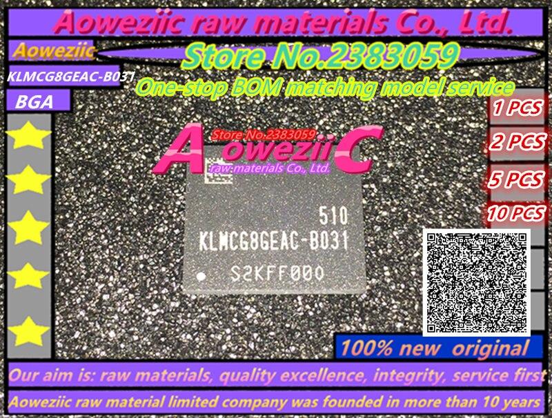 Aoweziic 100% new original KLMCG8GEAC-B031 BGA 153 MEM série 64 GB police KLMCG8GEAC B031