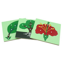 montessori puzzle plant learning educational wooden toys Mon