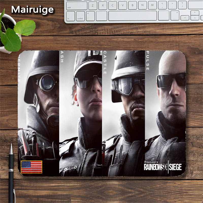 Mairuige Rainbow Six R6 Head of The Agent Gaming Mouse Pad FPS Game Pad for Csgo Gaming MousePad Send BoyFriend Gift Tables Mat